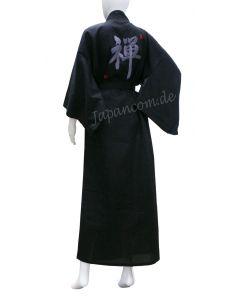 japanischer Damen Kimono ZEN schwarz.