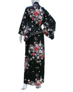 Japanischer Damen Kimono Hana schwarz