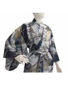 Damen Kimono Ribbon dunkelblau
