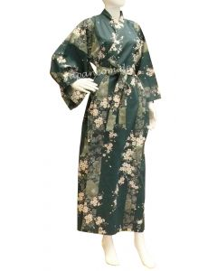 Damen Kimono Sakura (Kirschblüte) grün