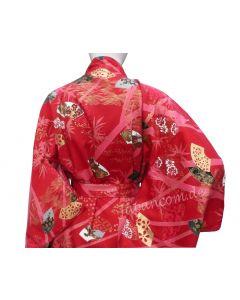 Japanischer Damen Kimono Sensu Take rot