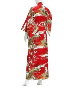 Japanischer Damen Kimono Ukiyoe rot