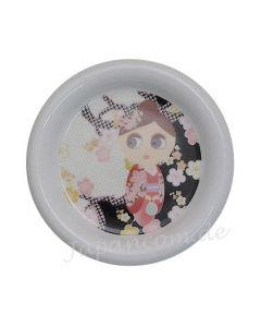 kleiner Teller Maiko pink - Unterteller für Teebecher