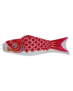 Koinobori rot 90 cm - Glückskarpfen