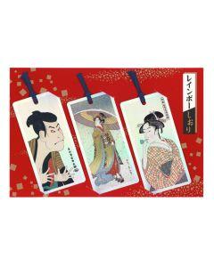 3 Lesezeichen Shiori Ukiyoe