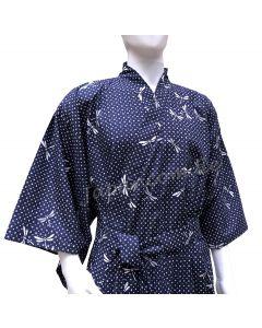 Herren Yukata Kimono Tombo dunkelblau