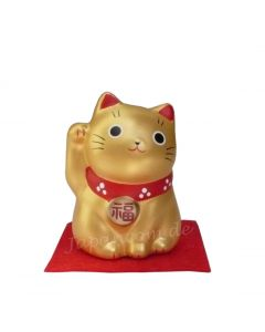 Japanische Glückskatze Gold
