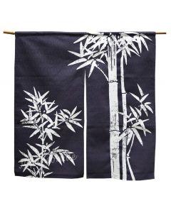 Noren Bambus 85x90 cm dunkelblau