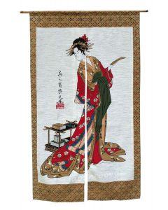 Noren Geisha mit Buch