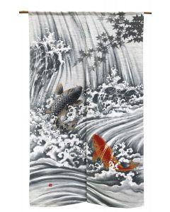 Noren Koi Karpfen am Wasserfall