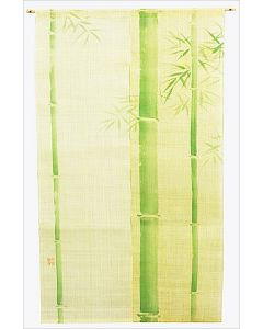 Noren Grüner Bambus Leinen beige lang