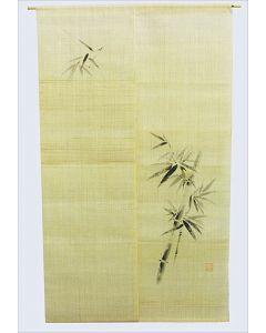 Noren Bambus Leinen beige