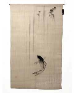 Japanischer Noren Koi Karpfen Leinen