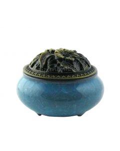 Räuchergefäss Hoshi mit Halter blau