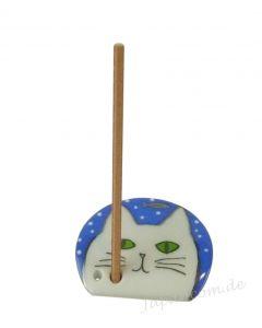 Japanischer Räucherstäbchenhalter Katze