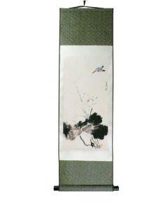 Rollbild Blauer Vogel 30 x 100 cm