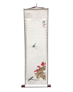 Rollbild Libelle Lotus 30 x 100 cm