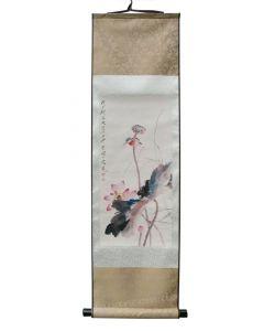 Rollbild Lotuslandschaft 30 x100 cm