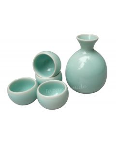 Sake Set Zen grün 5-tlg.