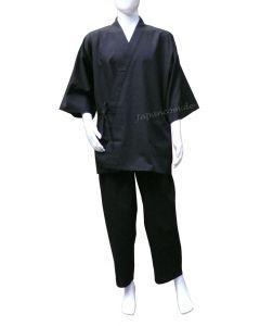 Meditationsanzug Samue Tsumugi Shinpuru schwarz