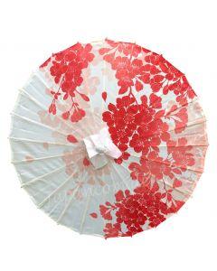 Schirm Rote Blumen Nylon