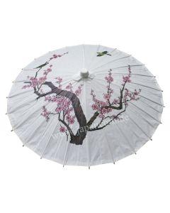 Japan Sonnenschirm Kirschzweig weiss