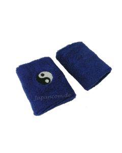 Schweissband Arm Yin Yang blau