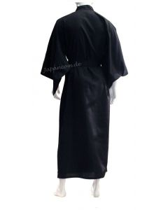 Herren Kimono Shin Tsumugi schwarz, M 142cm