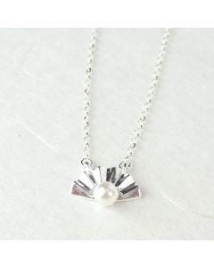 Silberkette Fächer mit Perle