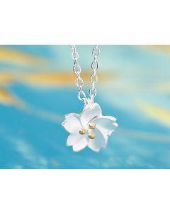Silberkette Kirschblüte