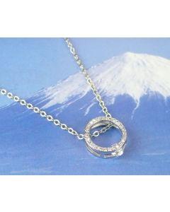 Silberkette Kreis mit Kristallen