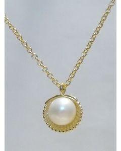 Silberkette mit Anhänger Muschel mit Perle