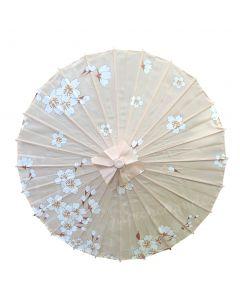 Sonnenschirm Kirschblüten Nylon, beige