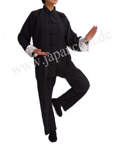 Tai Chi Anzug Yin Yang schwarz
