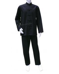 Taichi Anzug Dao schwarz Baumwolle