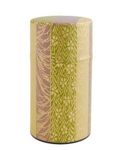 Teedose Bambus grün-gold 200g