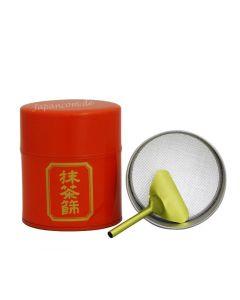 Teedose für Matcha Cha Sho rot