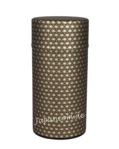Teedose Kleine Leinenblüte schwarz-gold 175 g