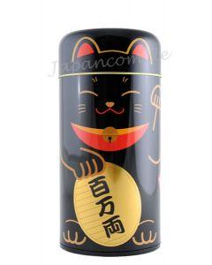 Teedose Maneki - japanische Glückskatze schwarz