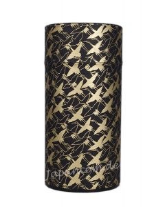 Teedose Tsuru Kraniche schwarz-gold 175 g