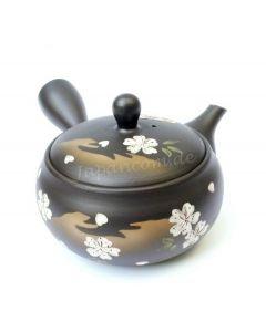 Teekanne Kirscheblüte braunschwarz