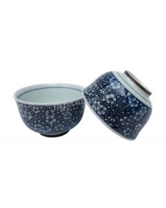 Kleine Teeschale Sakura blau