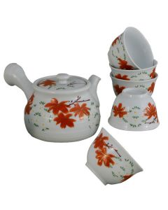 Japanisches Teeset Momiji weiß 6-tlg.