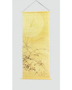 Rollbild Tsuki (Der Mond) auf Leinen, handgemalt
