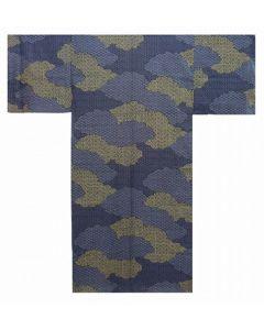 Herren / Männer Yukata Kimono Kumo schwarz aus Japan, 100 % Baumwolle