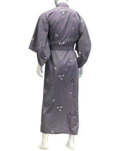 Herren Yukata Kimono Montsuki blau
